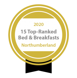 Included in the Top 15 Ranked Bed and Breakfasts in Northumberland