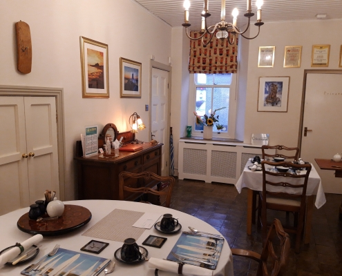 Post Office House B&B Belford Dining Room Covid