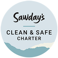 Sawdays Clean and Safe Charter Badge